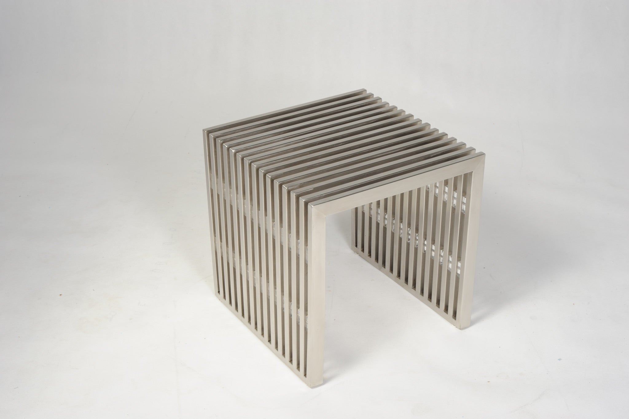 ariel stainless steel end table  mid century modern seattle  - ariel stainless steel end table  the modern source