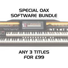 Any 3 OAX Software packs for £99 / Alle 3 OAX Softwarepakete für £99