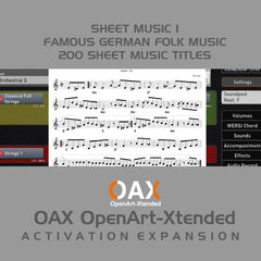 OAX Sheet Music 1 Activation