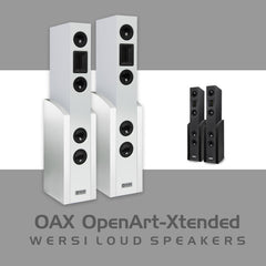 WERSI Vocalis 120 High Definition Speakers (Pearl White / High Polish Black)