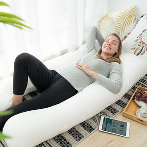 Classic U Shaped Pregnancy Pillow (White)
