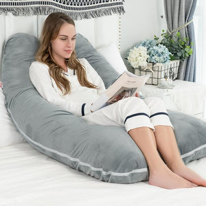 Classic U Shaped Pregnancy Pillow (Gray)