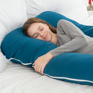 Classic U Shaped Pregnancy Pillow (Navy Blue)