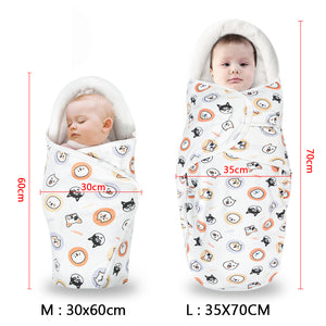 Baby swaddle blankets cutie dog printing