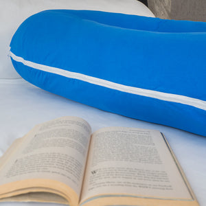 Luxury Long U Shaped Pregnancy Pillow (Blue)