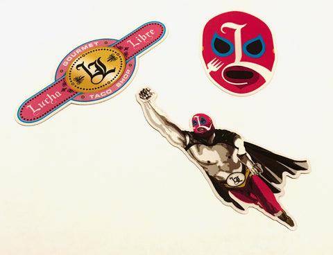Lucha Die-cut sticker pack