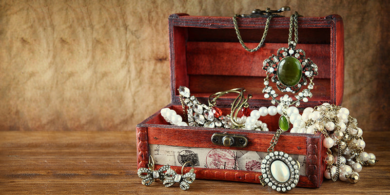 Jewelry holders and treasure boxes