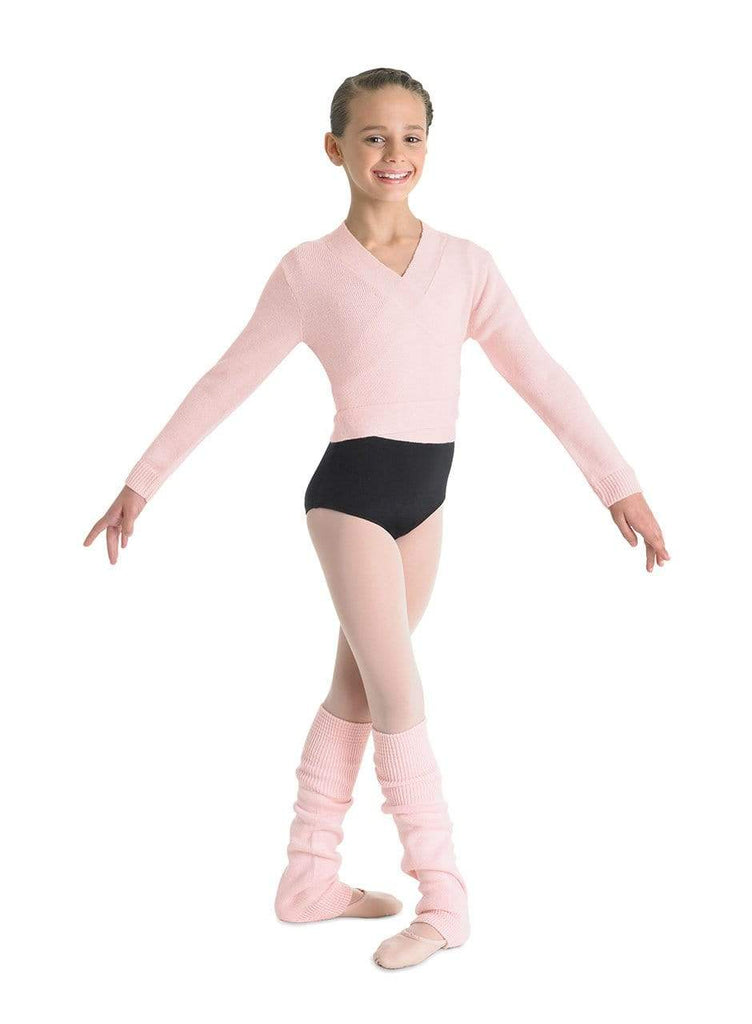 "Bloch ""Ella' Cross over cardigan-Youth BLOCH ballet sweater"