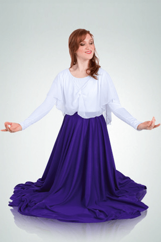 Bodywrappers Praise Dance Skirt-Plus Size Bodywrappers liturgical dancewear