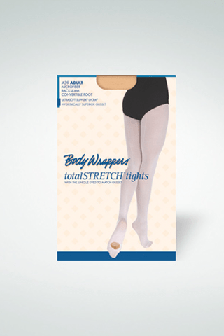 BODY WRAPPERS MICROFIBER BACK SEAM TIGHTS-ADULT bodywrappers tights