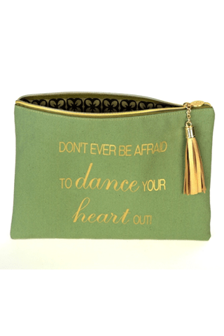 Don't Ever Be Afraid To Dance-Canvas Bag BPLUSPRINTWORKS COSMETIC CASE
