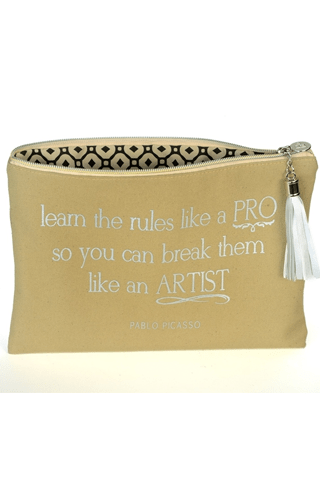 Learn the Rules like a Pro-Canvas Bag BPLUSPRINTWORKS COSMETIC CASE