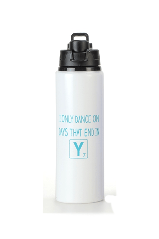 "I ONLY DANCE IN DAYS THAT END IN ""Y""-WATER BOTTLE BPLUSPRINTWORKS Water Bottles"