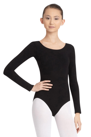 CAPEZIO LONG SLEEVE LEOTARD-ADULT CAPEZIO LEOTARDS