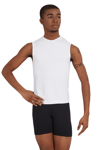 CAPEZIO SLEEVELESS FITTED MUSCLE TEE