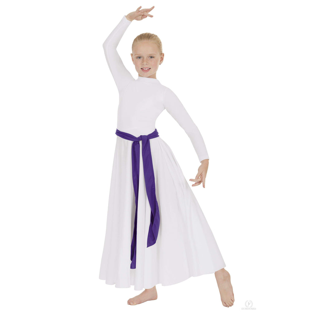 Eurotard Girls High Neck Praise Dress Eurotard liturgical dancewear