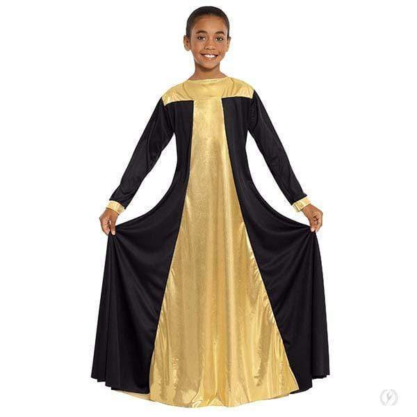 Eurotard Girls Praise Dress with Metallic Panels Eurotard liturgical dancewear