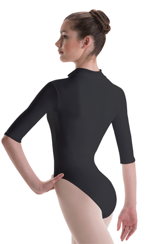 MOTIONWEAR 3/4 SLEEVE ZIP FRONT LEOTARD MOTIONWEAR LEOTARDS