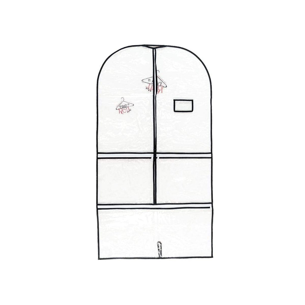 Garment Bag - Full Clear - Black Long RAC N' ROLL garment bag