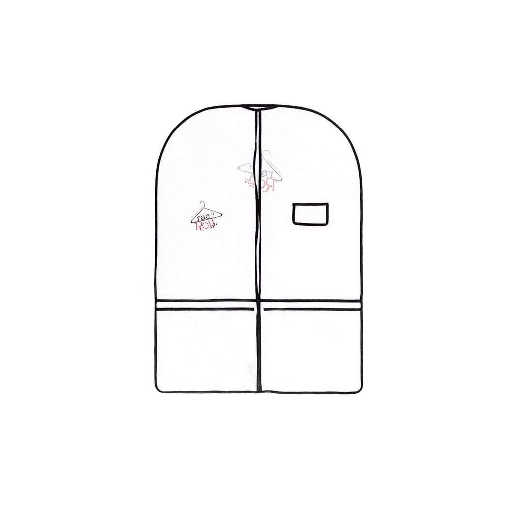 Garment Bag - Half Clear - Half Non-Woven - Short RAC N' ROLL garment bag
