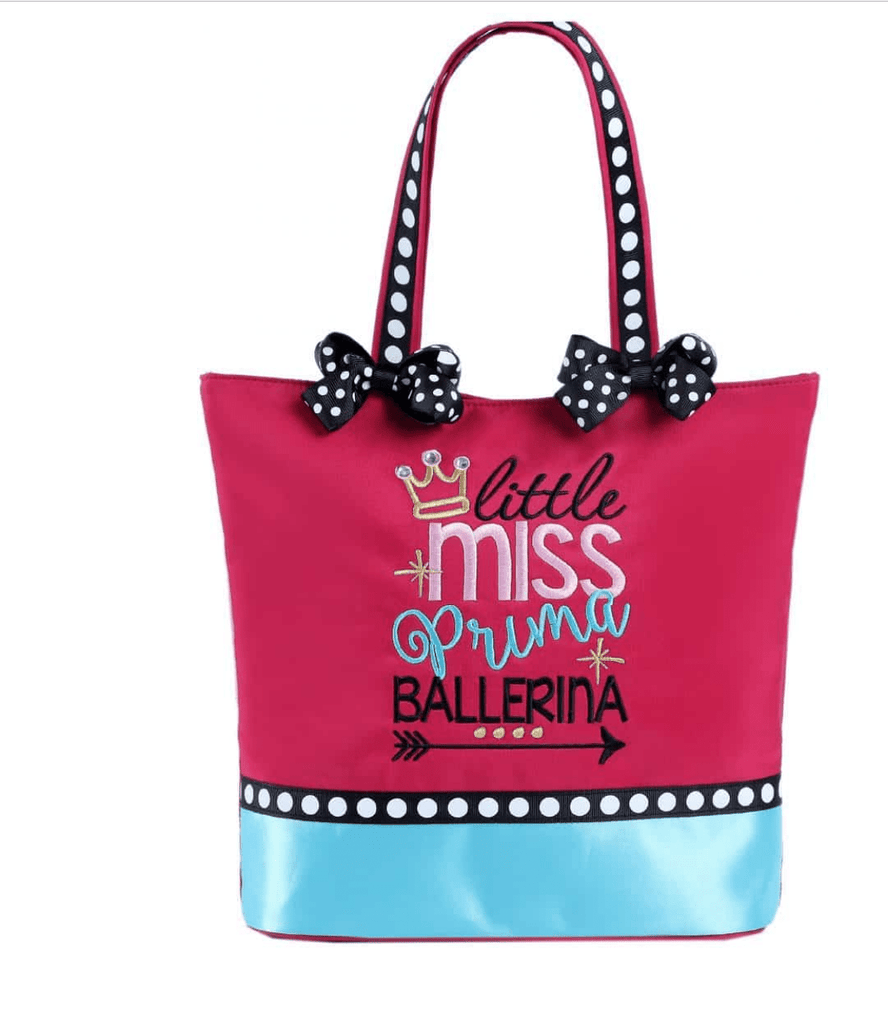 Little Miss Prima Ballerina Dance Tote Sassi Designs bags