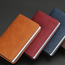 Load image into Gallery viewer, Rfid Card Holder Short Small Slim Leather Smart Wallets Purse
