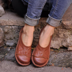 Women Soft Pu Flat Heel Casual Loafers