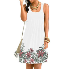 Load image into Gallery viewer, Summer Floral Print Sleeveless Pleated Dress