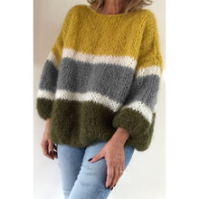 Load image into Gallery viewer, Casual Stripe Loose Multicolor Sweater