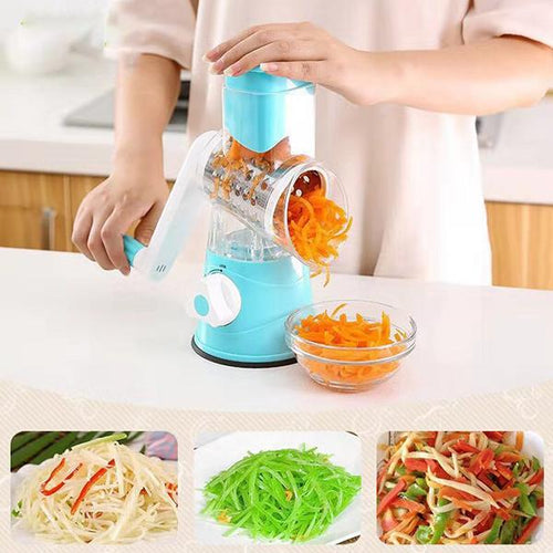 Kitchen Three-in-one Hand-cutter Shredder Household Rotary Grater