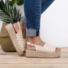 Load image into Gallery viewer, Weaving Espadrille Platform Sandals Summer Peep Toe Sandals