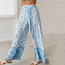 Load image into Gallery viewer, Women Loose Floral Printed Wide Leg Pants Yoga Trousers