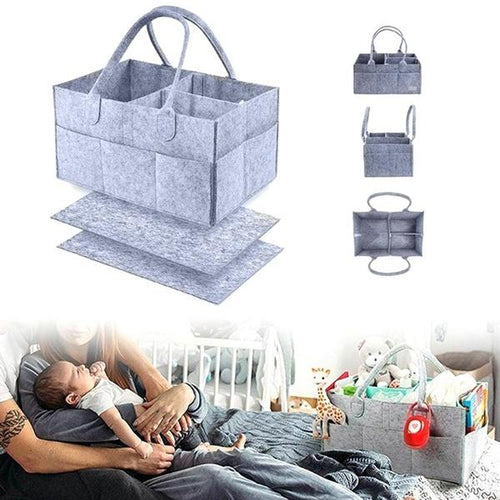 Multifunctional Felt Diaper Bag Folding Travel Bag