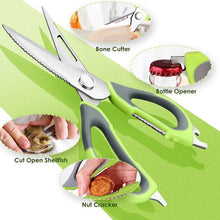 Load image into Gallery viewer, Multi-Purpose Stainless Steel Detachable Scissors Fish Scaler Nut Cracker Peeler