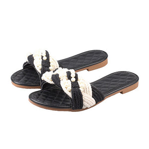 Color Block Flat Opened Toe Casual Date Travel Comfort Slippers