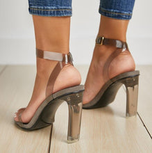 Load image into Gallery viewer, Fashion Transparent PU Summer Thin High Heels Ladies Sandals