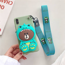 Load image into Gallery viewer, Cartoon Storage Phone Case For iPhone