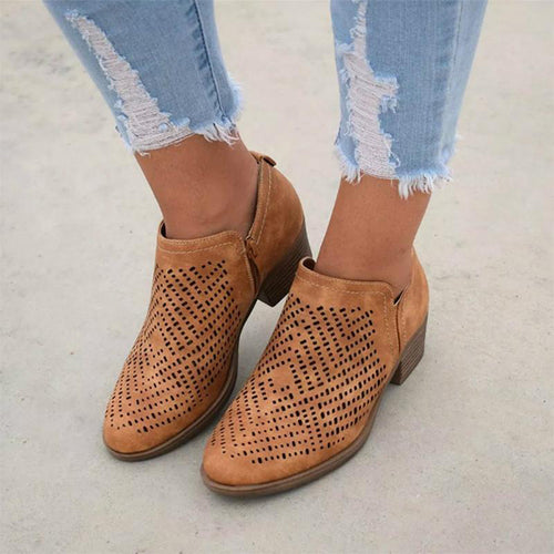 Textured Laser Cut Breathable Shoes