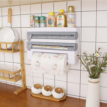 Load image into Gallery viewer, Wrapping Paper Cutter Cling Film Sauce Bottle Storage Rack Kitchen Shelf