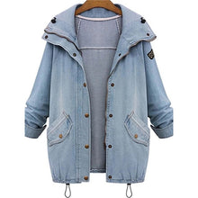 Load image into Gallery viewer, Plus Size Color Block Pocket Patchwork Zipper Women's Jacket Suit
