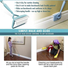 Load image into Gallery viewer, Household lazy retractable fiber cleaning stick cleaning brush