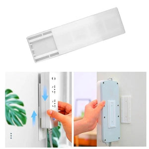 Adhesive Wall Mounted Seamless Power Strip Plug Board Holder