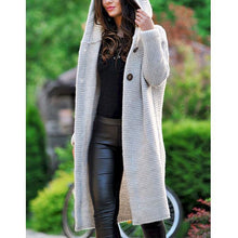 Load image into Gallery viewer, Casual Solid Color Long-Sleeve Knitting Coats