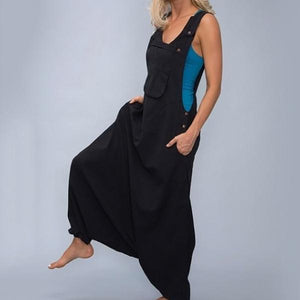 Plus Size Loose Solid Color Jumpsuits