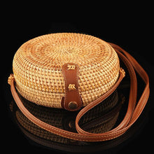 Load image into Gallery viewer, Handmade Women's Straw Shoulder Bag
