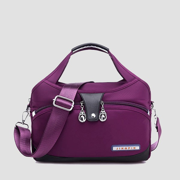 Women Casual Solid Color Large Capacity  Crossbody Bag