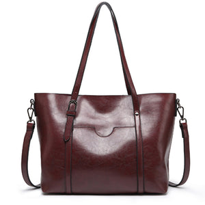 Women's Vintage Large Capacity Solid Bag