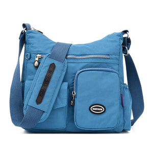 Women Nylon Large Capacity Waterproof Crossbody Bag