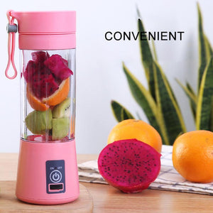 Mini USB Rechargeable 4 blades Portable Electric Fruit Juicer Smoothie Maker Blender Machine