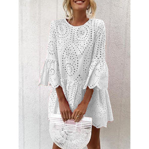 Frill Sleeves Casual Elegant Women Dresses